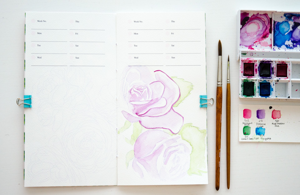 The exclusive PIY Floral Traveler's Planner freebie.
