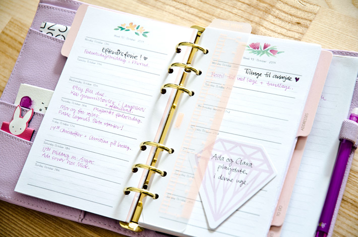 Floral Day Planner Collection - for A5 and Personal Filofax and other planners | Nina is a paper nerd.