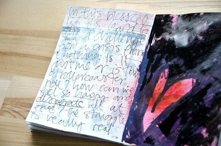 Paper Nerd Art Journal | Get Messy Art Journal Challenge #getmessyartjournalchallenge by Nina Christensen