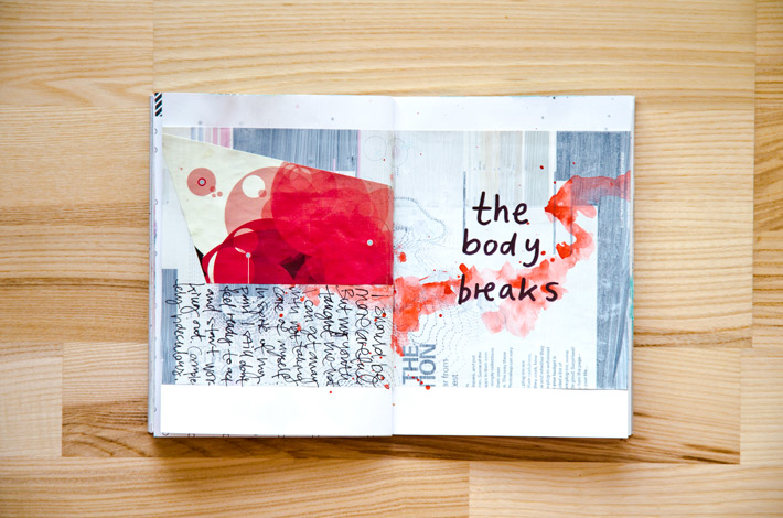 Paper Nerd Art Journal | Get Messy Art Journal Challenge #getmessyartjournalchallenge by Nina Christensen