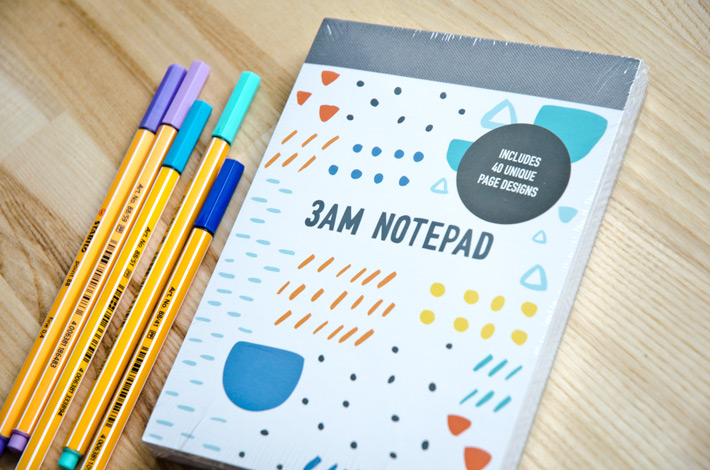 #12in14challenge Scrapbooking challenge. October prize is a 3AM Notepad by Kikki K.