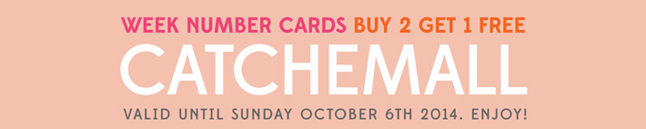 Paper Nerd Etsy Coupon Code for Week Number Cards