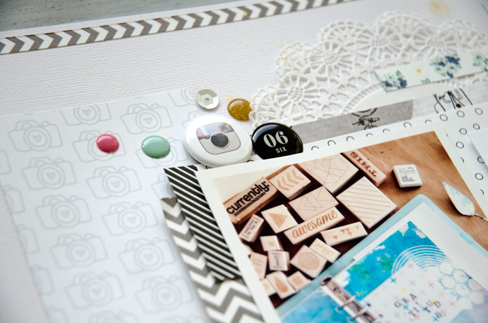 Black and white scrapbooking challenge | 12 in 14 | Paper Nerd