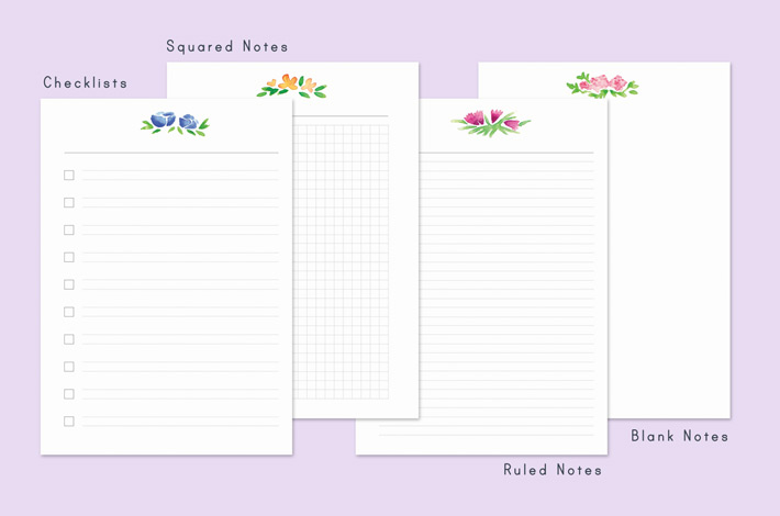 Printable for Filofax: The Floral Day Planner Pages