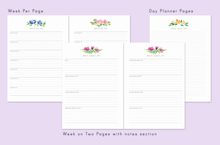 the floral day planner collection paper nerd