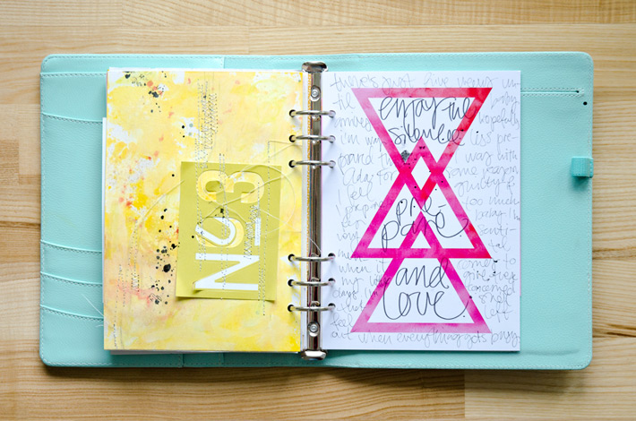 Enjoy the silence | Get Messy Art Journal