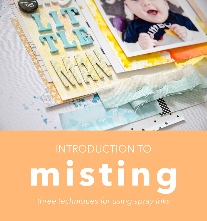 Introduction to misting – three easy and less-messy ways to get started with spray inks