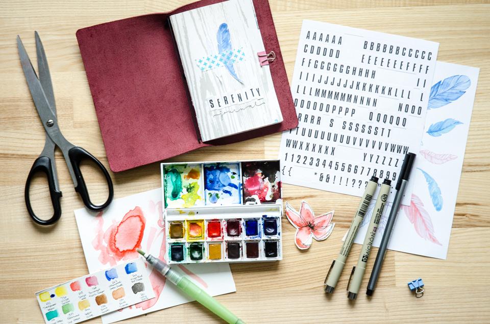 Serenity Journal | Get Messy Art Journal
