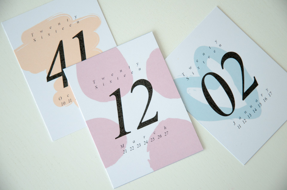 Week Number Cards 2016 | imapapernerd.com