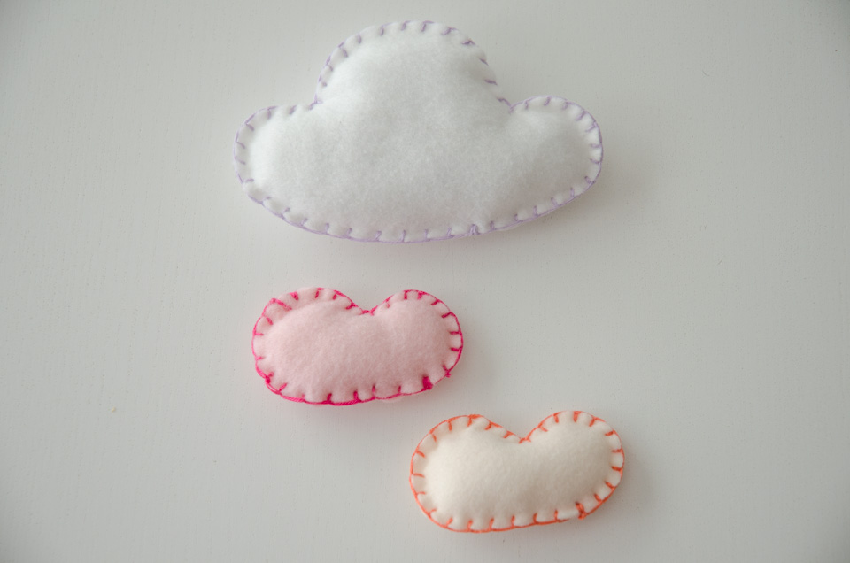 Paper Nerd Easy Felt Cloud Mobile DIY Tutorial