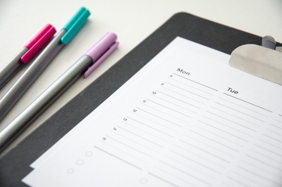 Paper Nerd Block Schedule Printable Freebie | imapapernerd.com