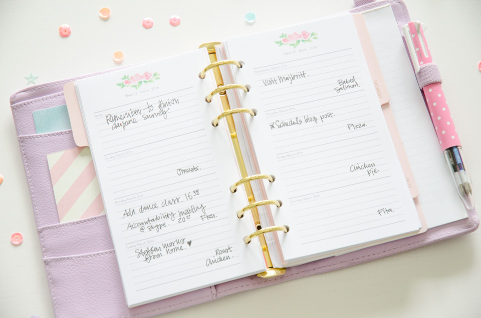 Let your plans shine! | Floral Day Planner 2016 Release