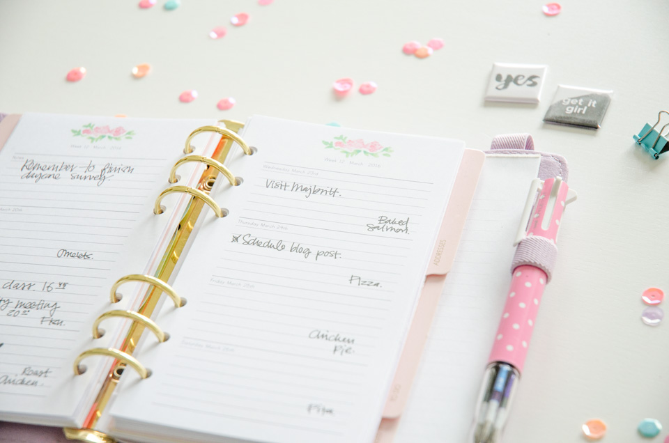Floral Day Planner 2016 | Let your plans shine