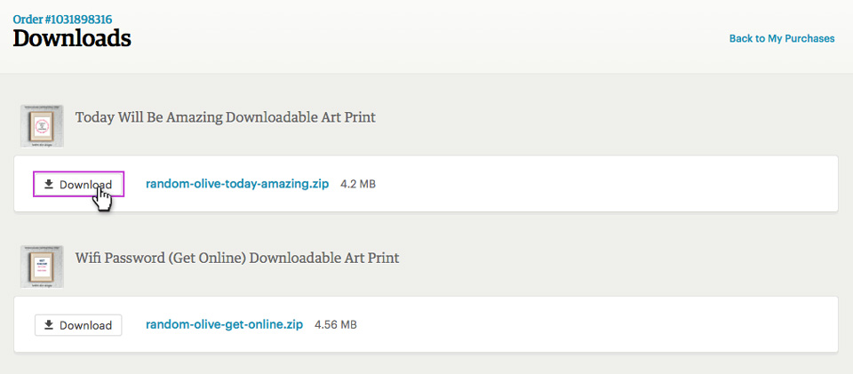 How to find your digital files on Etsy