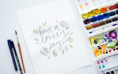 Original Watercolor Giveaway and Freebie | Lovely Day Wall Art