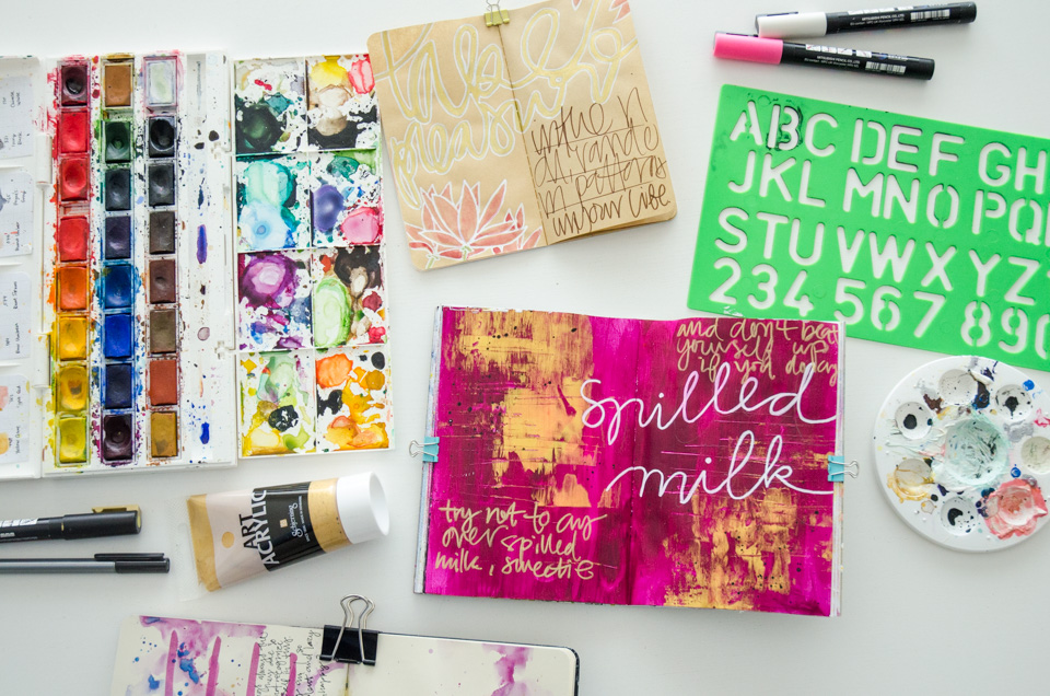Season of Happy Pages | Get Messy Art Journal