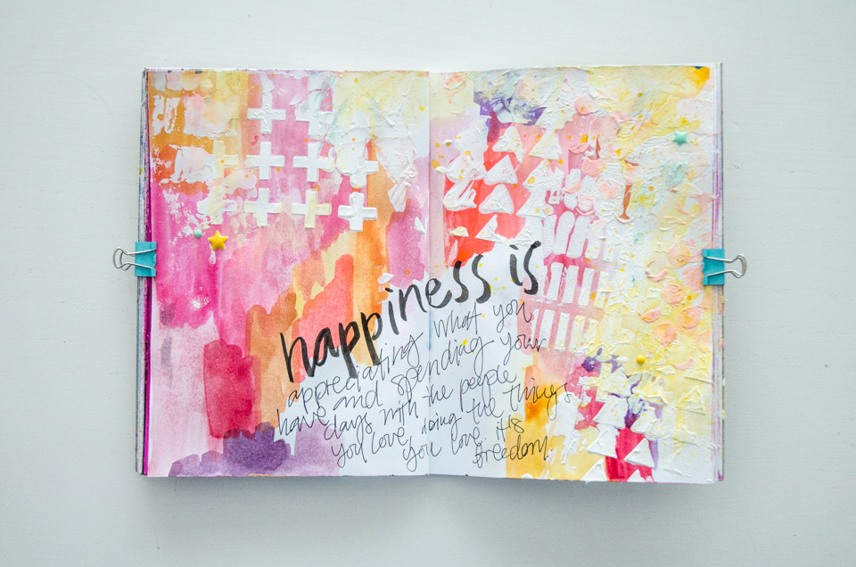 Season of Happy Pages | Get Messy Art journal by imapapernerd.com