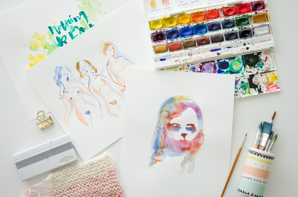 Watercolors by Nina Christensen | I'm a paper Nerd