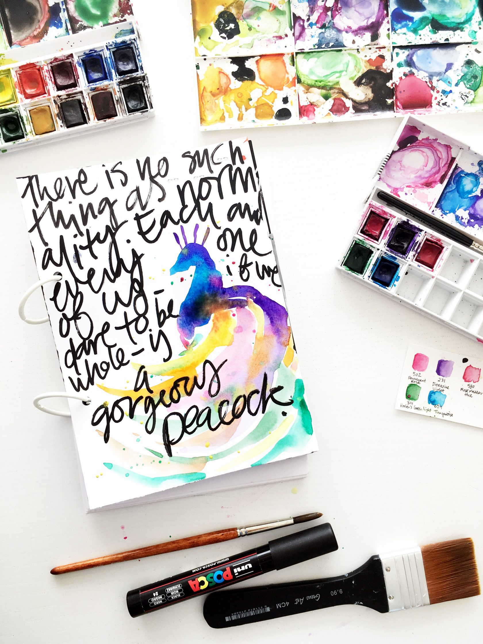 """There is no such thing as normality. Each one of us – if we dare to be whole – is a gorgeous peacock."" RuPaul 