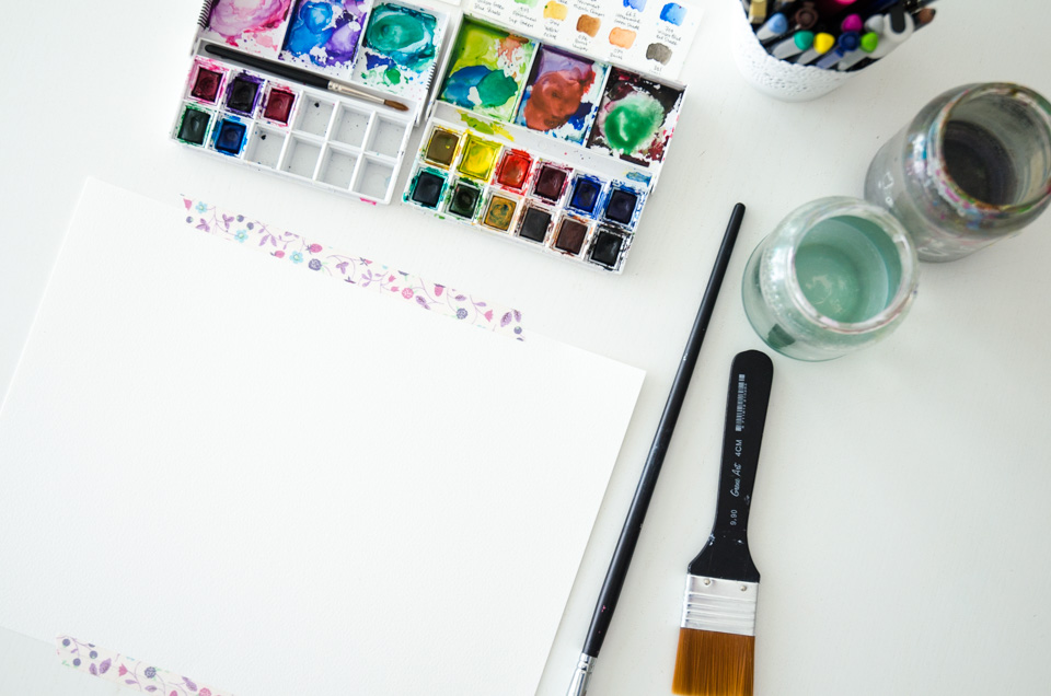 Watercolor Lesson: When to prime – and when not to!