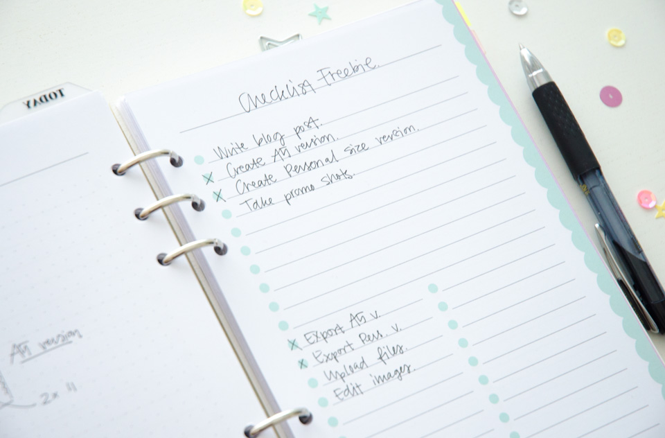 Pastel Project Checklist | Free Printable for your A5 or Personal Size planner