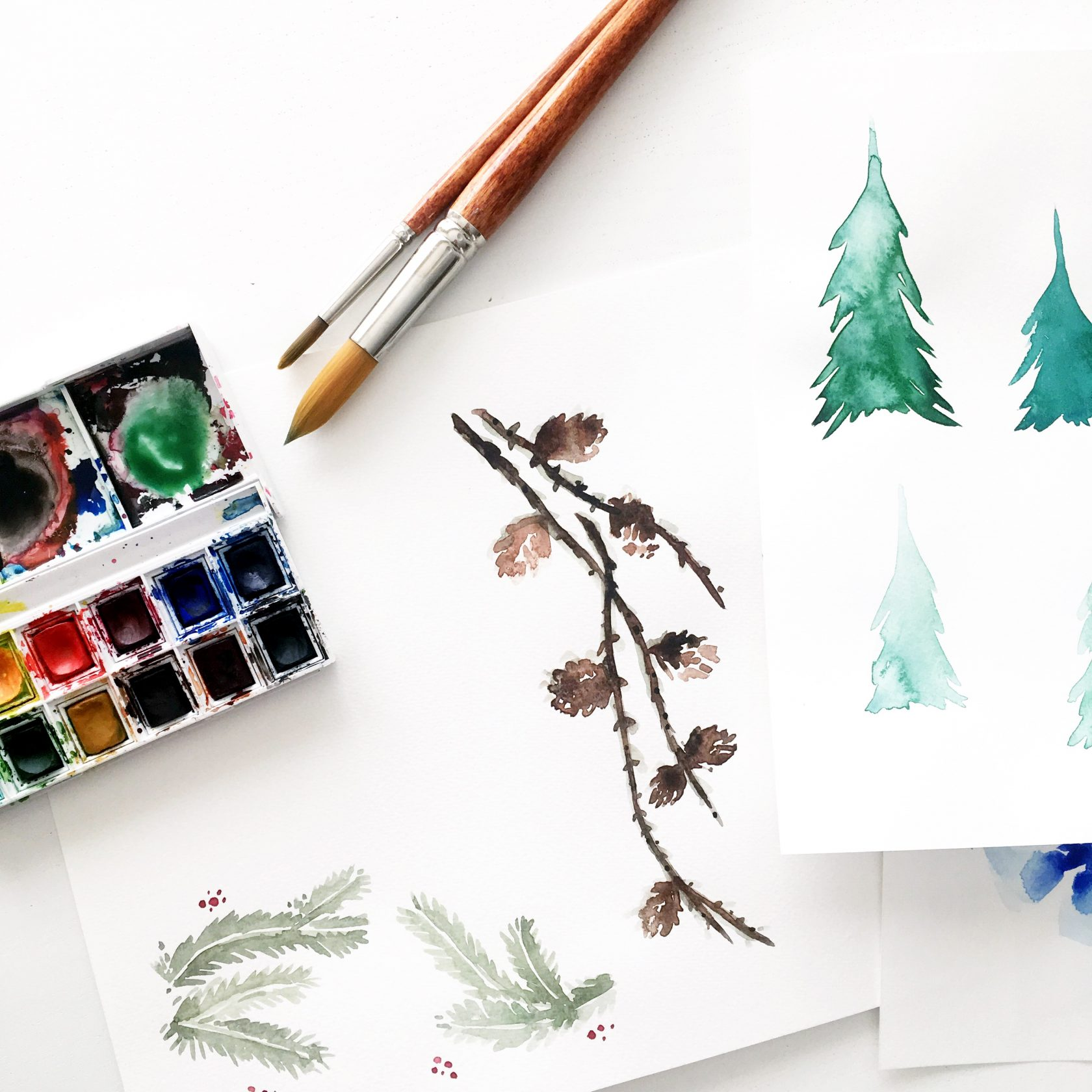 Watercolors in November | Currently by imapapernerd.com