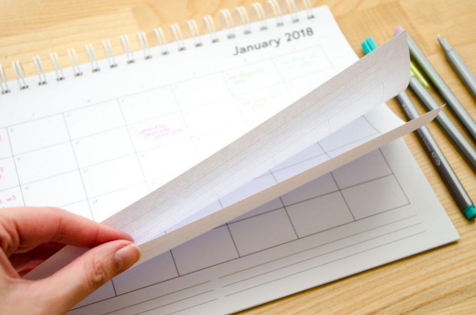 Perfectly Clear Editorial Calendar Printable for 2018