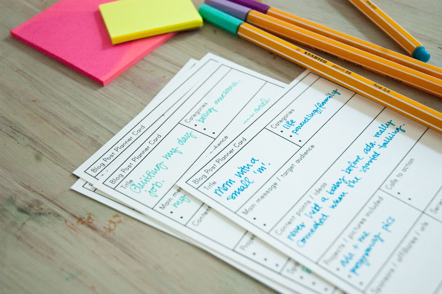 Freebie | Printable Blog Post Planner Cards
