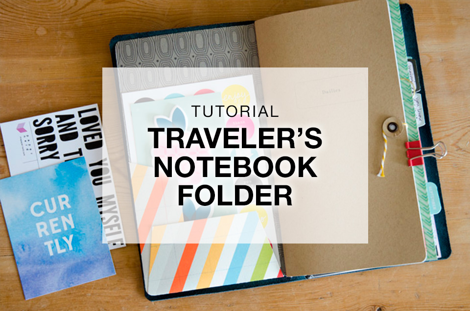 Diy Traveler S Notebook Folder Tutorial Paper Nerd